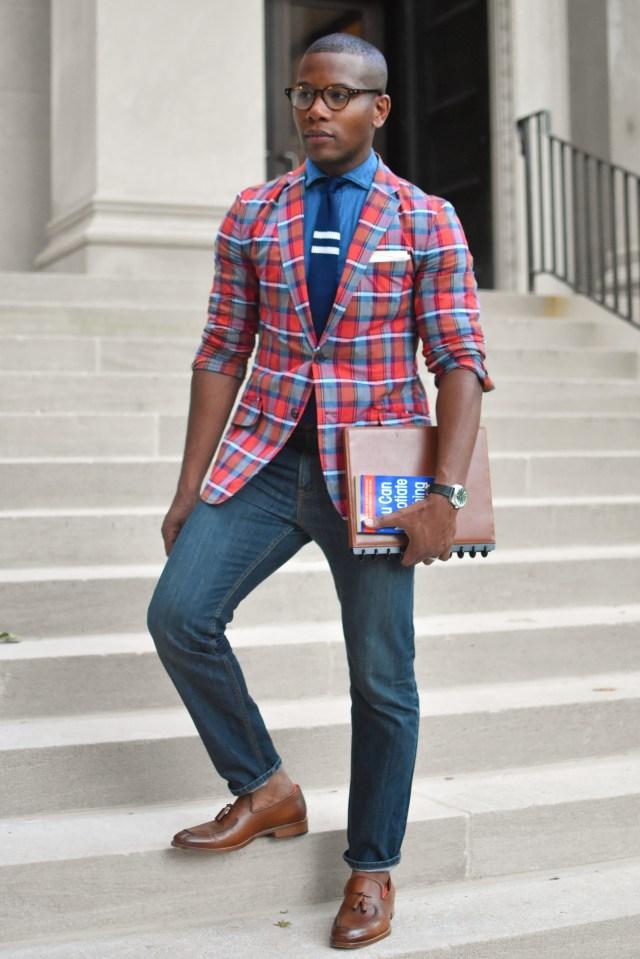 Sabir of Men's Style Pro wearing Johnston & Murphy Cates Moc Tassel Loafers in Tan