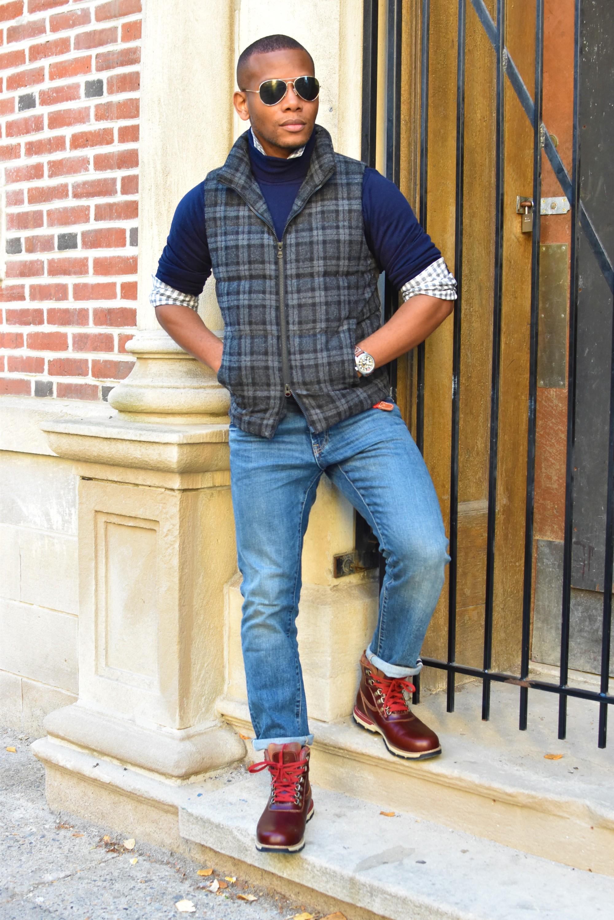 Sabir M. Peele of Men's Style Pro in Timberland Hiking Boots 5