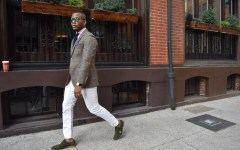 Sabir Of Men's Style Pro wearing Tailor 4 Less Unstructured Plaid Tweed Suit