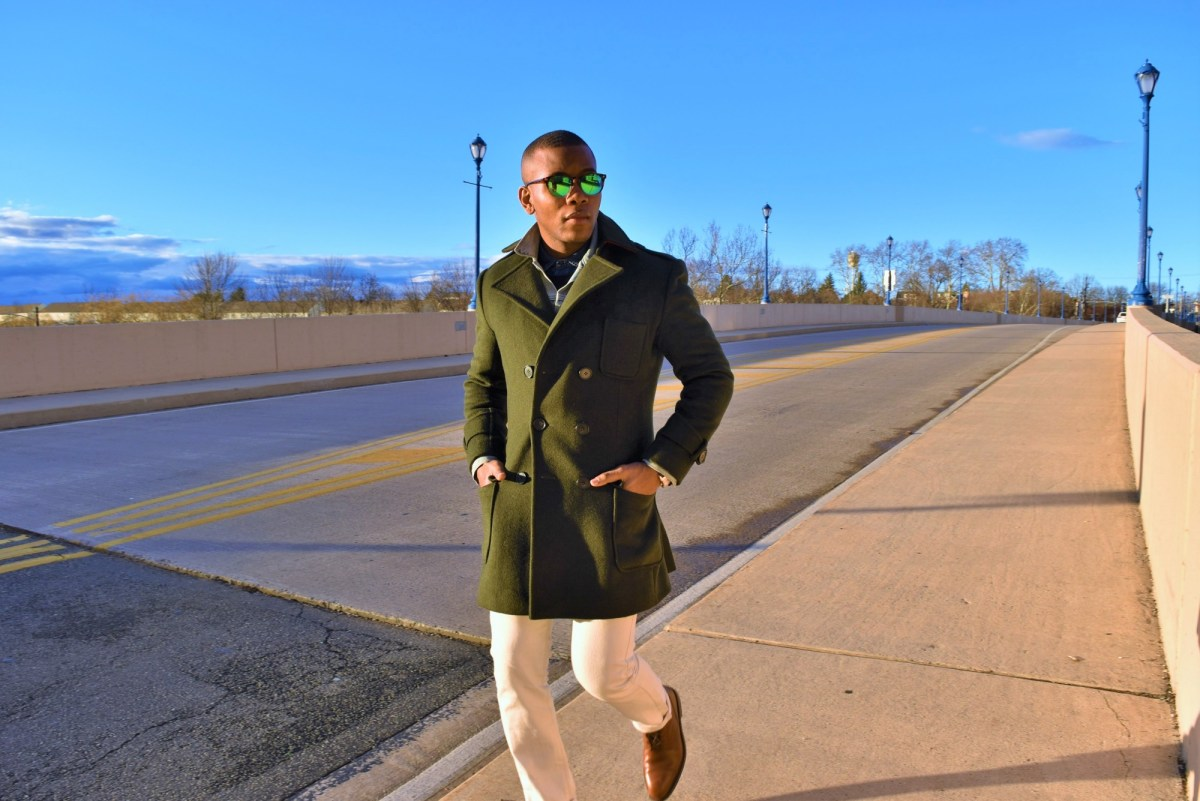 Winter Essentials: The  Wool & Cashmere Green Double Breasted Coat