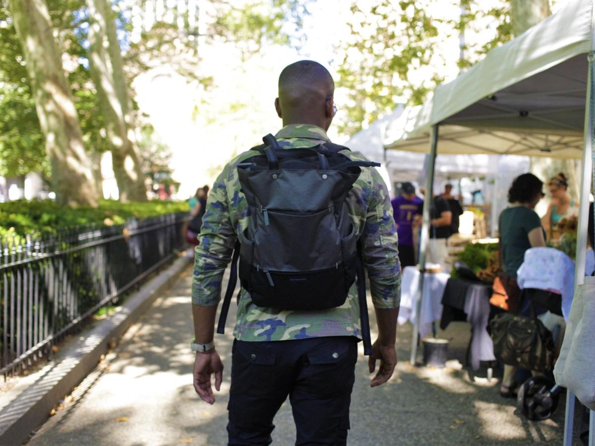 Sabir M. Peele rocking Sherpani Backpack