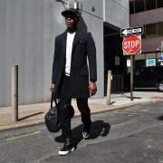 Sabir M. Peele of Men's Style Pro in Commonwealth Proper Style Raincoat