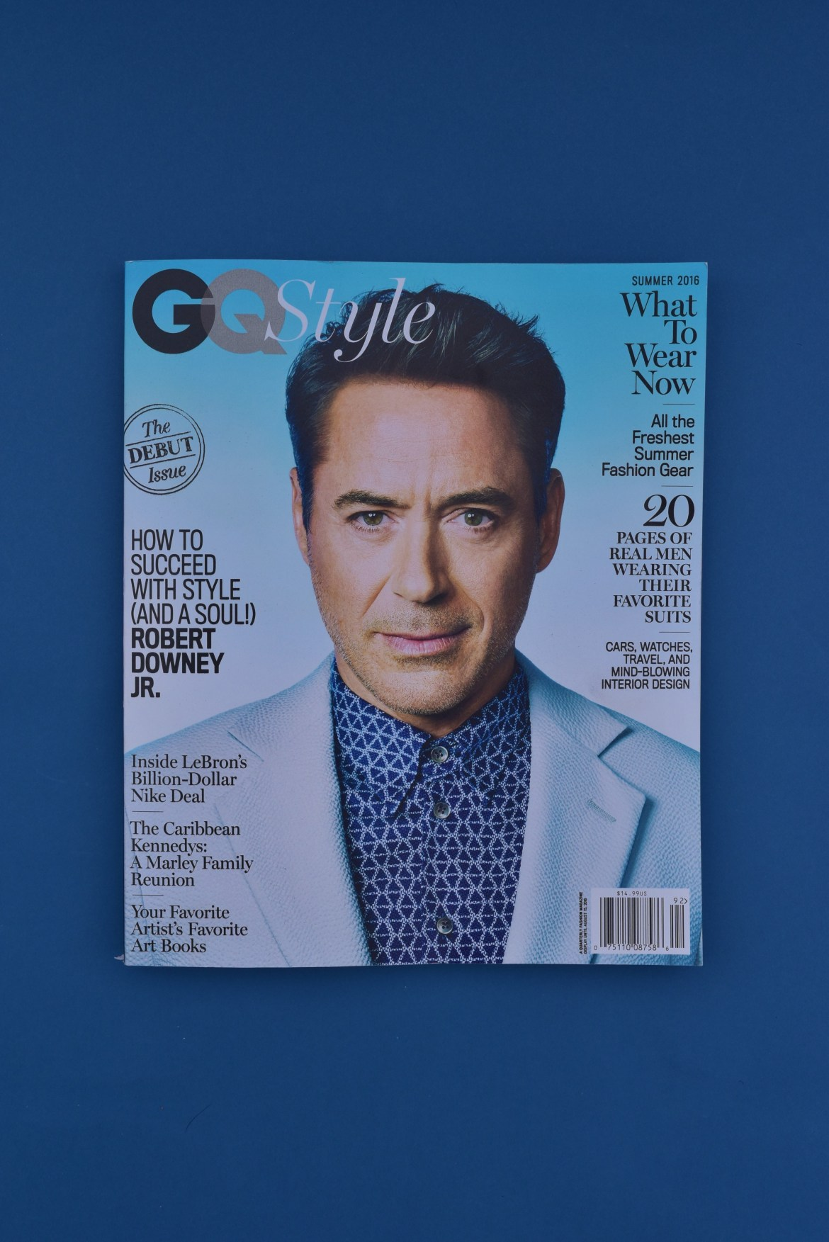 GQ Style Debut Issue with Robert Downey Jr On The Cover