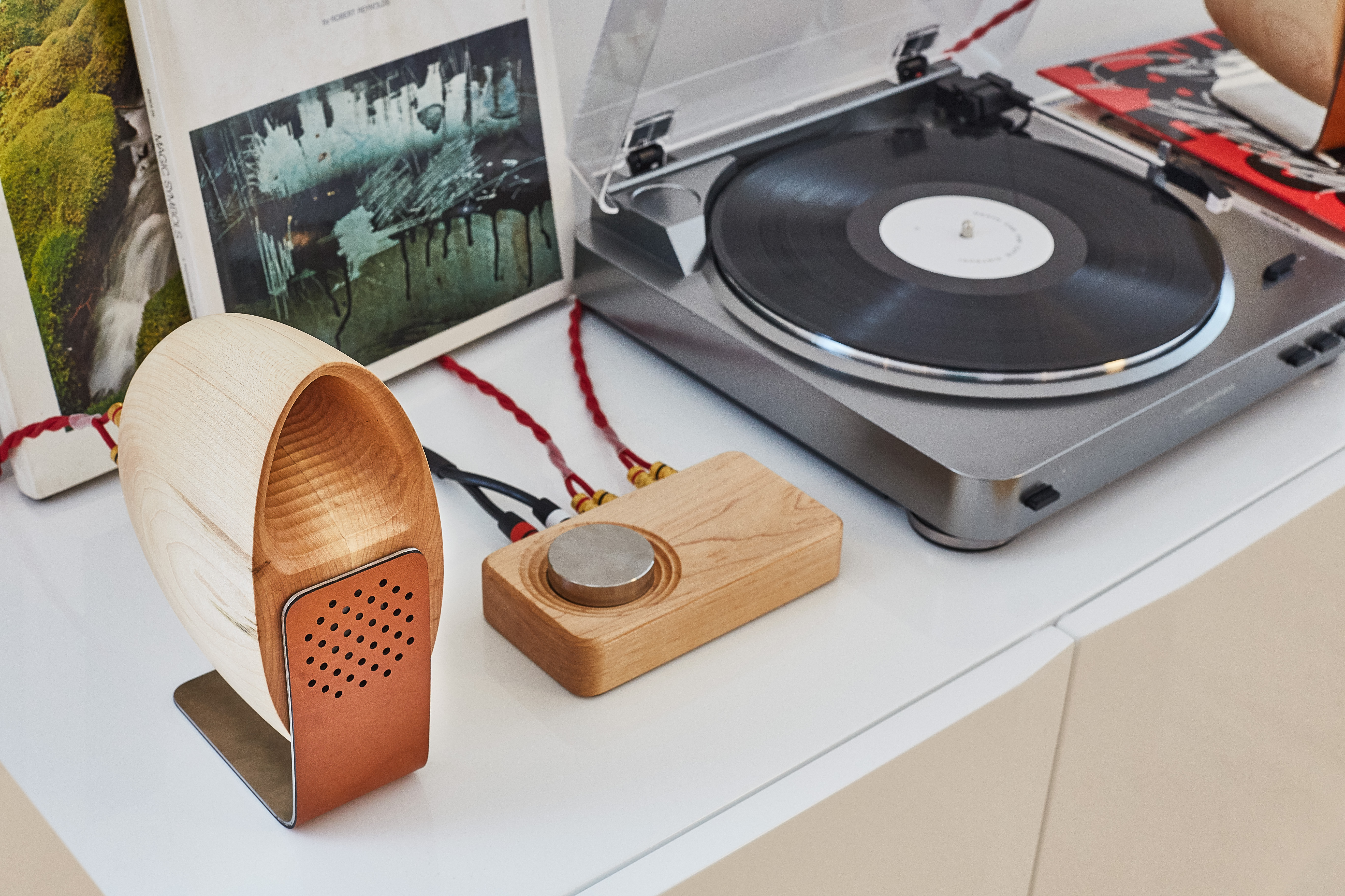 GroveMade Maple Wood Speakers System