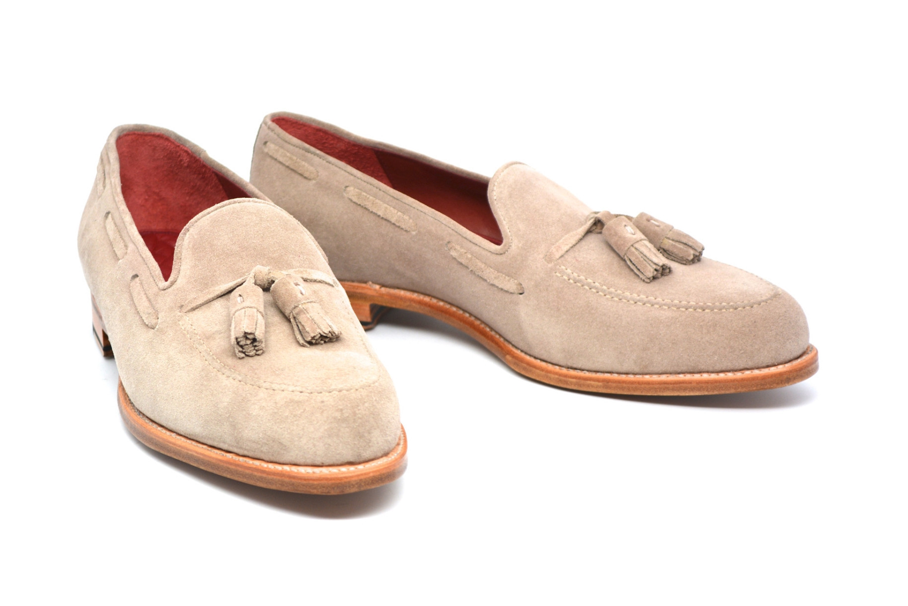 Cobbler Union Nude Suede Tassel Loafers