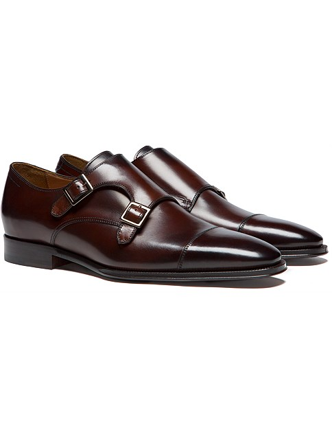 Suitsupply Double Monk Strap Shoe in Dark Brown