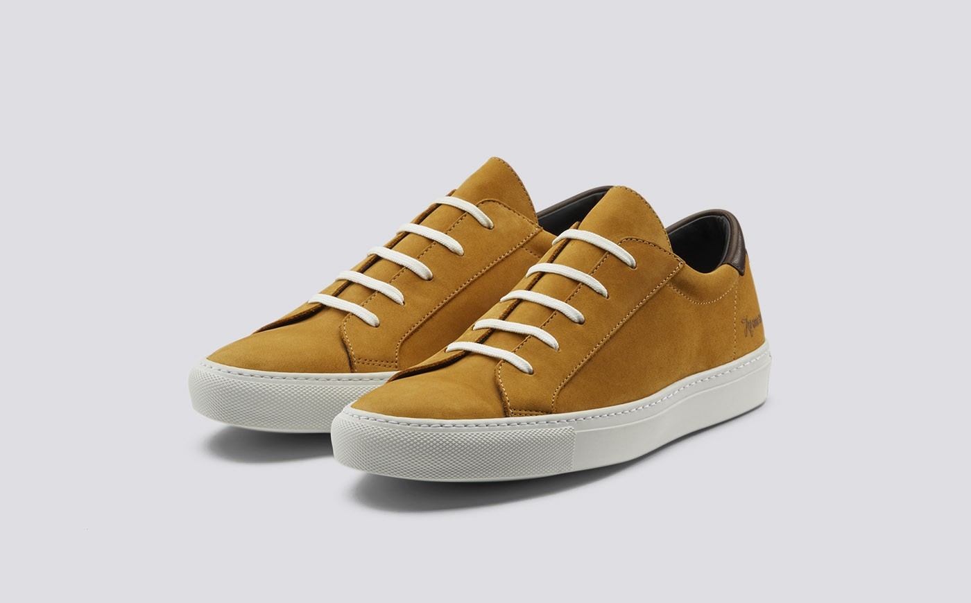 Grenson Beige Suede Sneakers
