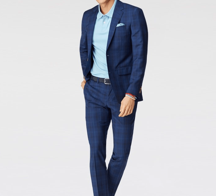 Indochino Tonal Plaid Wool Stretch Suit