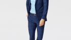 Indochino Tonal Plaid Wool Stretch Suit