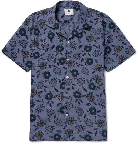 Miyagi Camp-Collar Floral Shirt