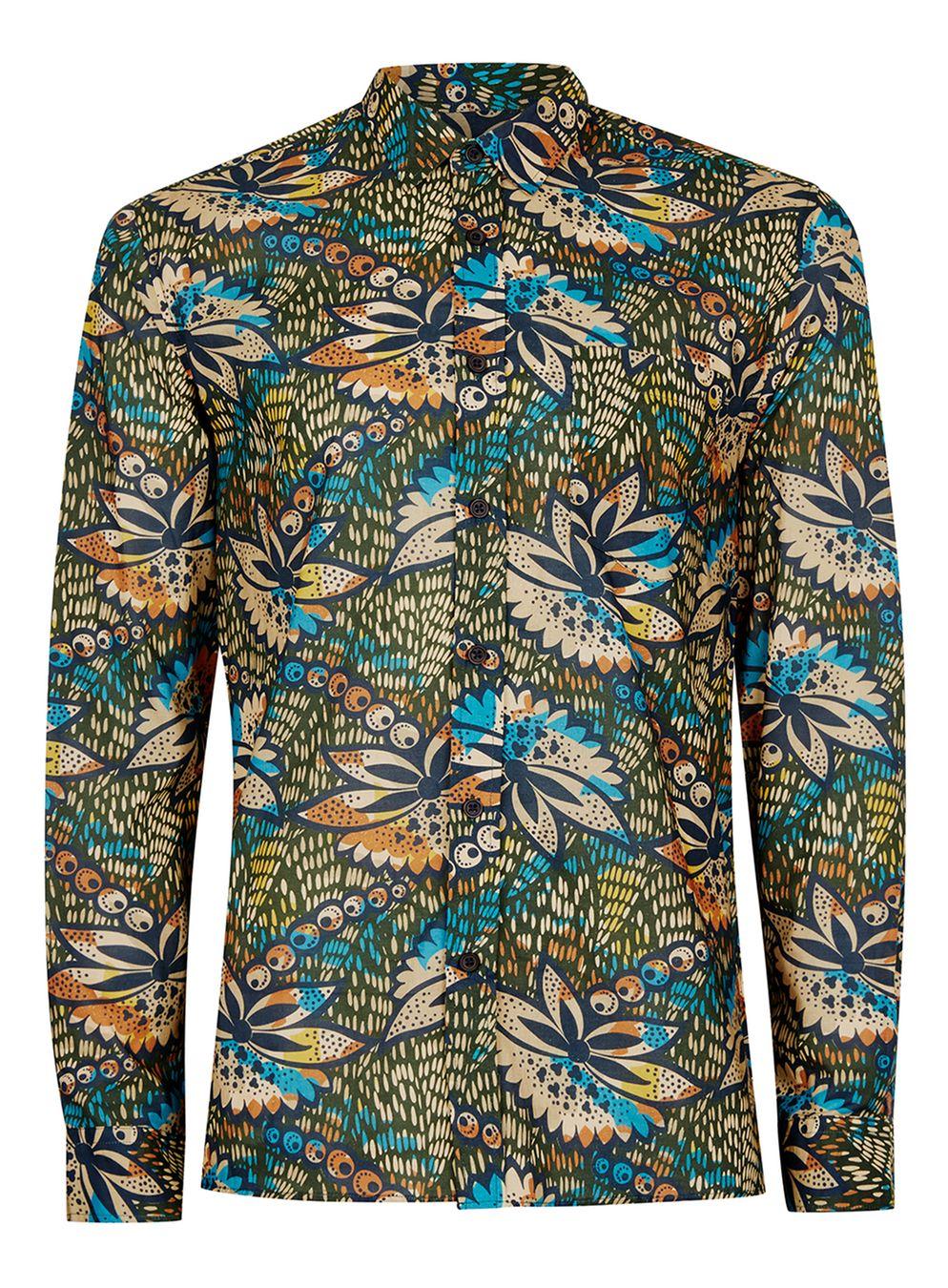 Topman Floral Drape shirt