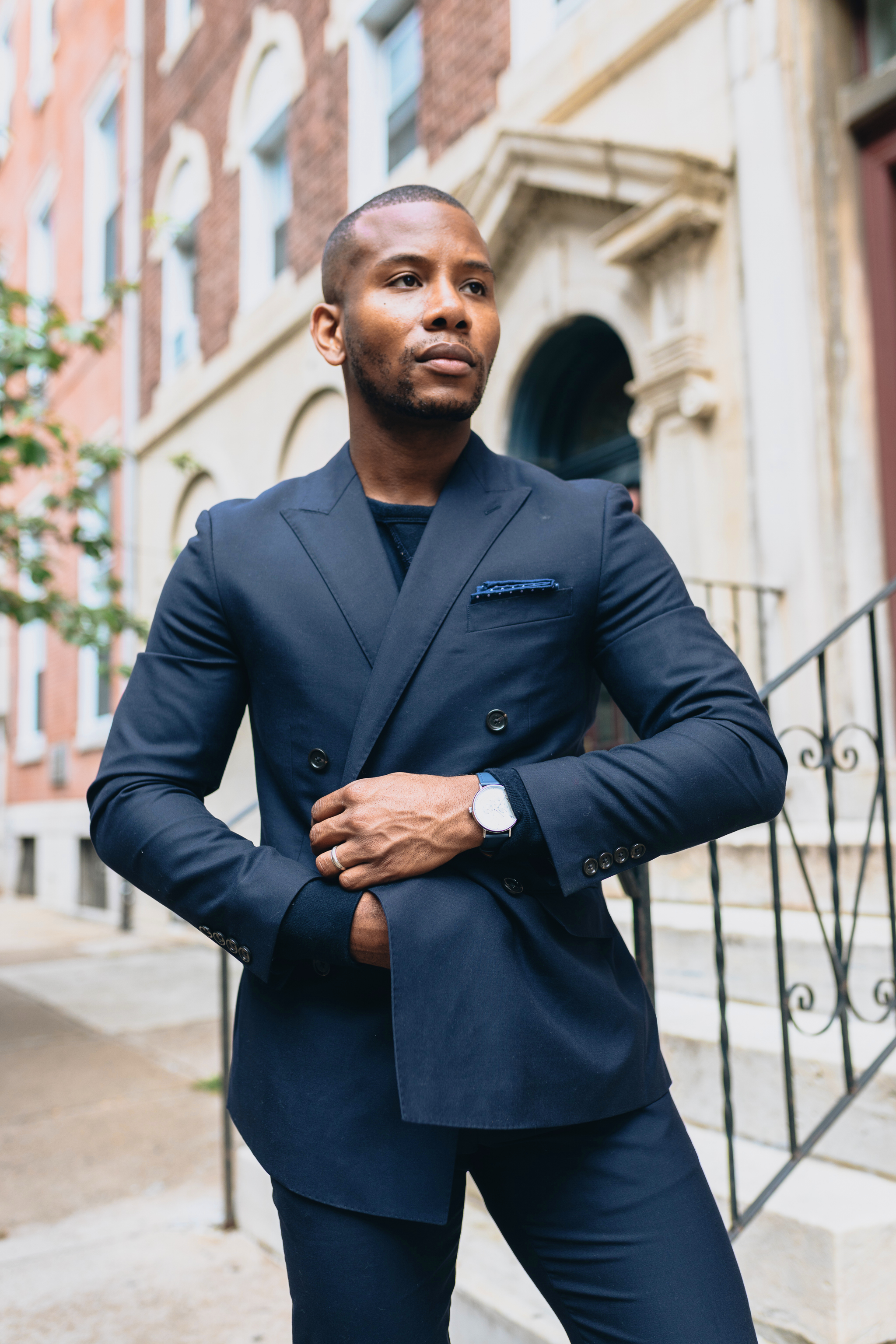 Sabir M. Peele of Men's Style Pro in Cobble & Hyde Snuff Suede Chukka Boots