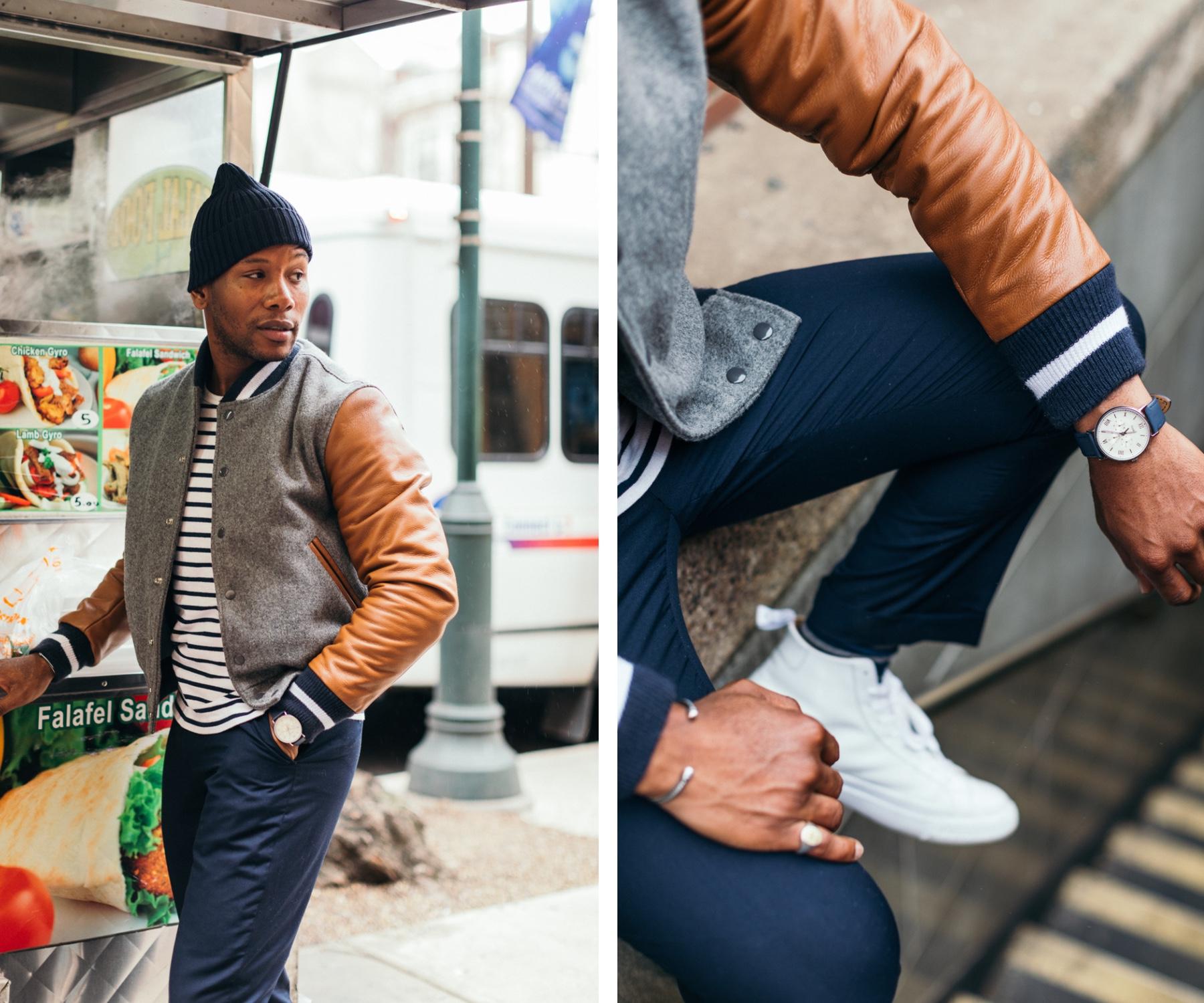Men's Style Pro Blog - P's & Q's Golden Bear Varsity Jacket Philly Style