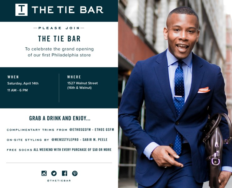 The Tie Bar Comes To Philly