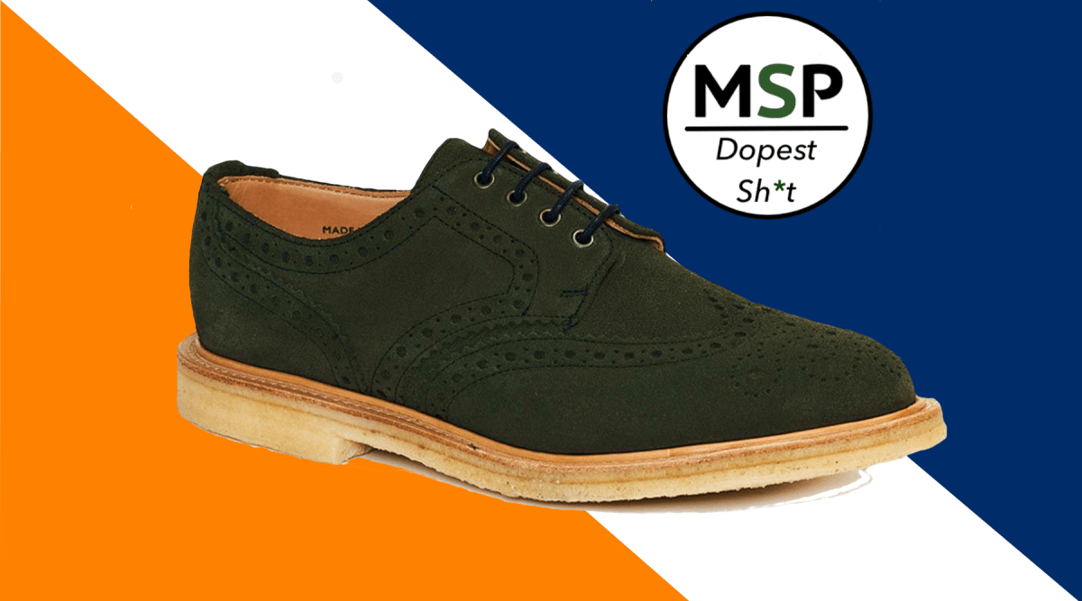 Your Spring Must Have: Blackstock & Weber Lewis Green Suede Wingtips