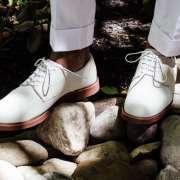 White Bucks x GH Bass & Haspel on Men's Style Pro