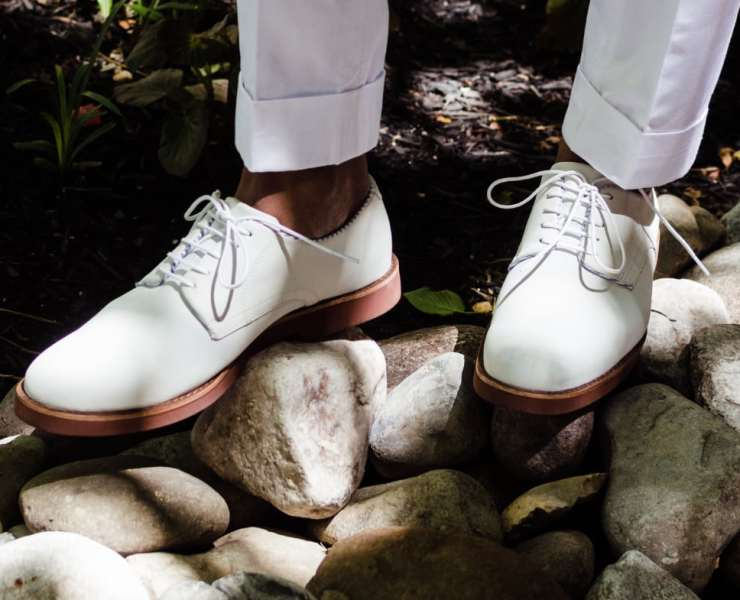 White Bucks x GH Bass & Haspel on Men's Style Pro