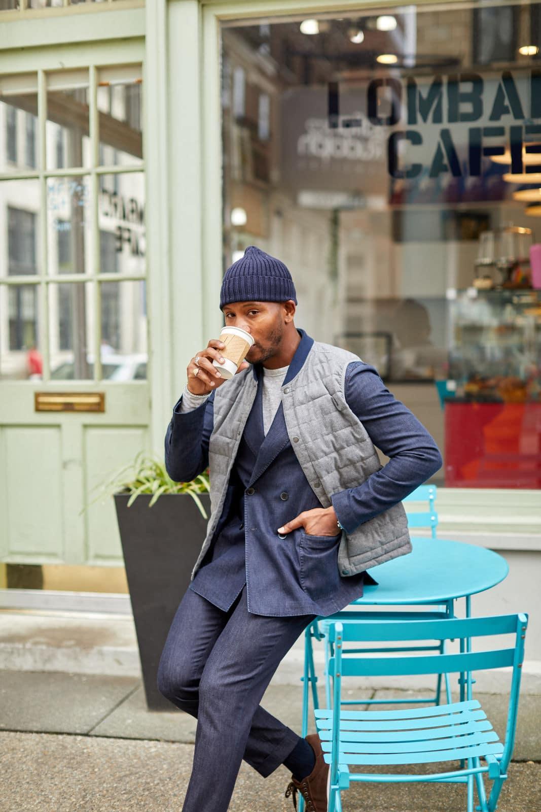 Moda Matters Denim Suit on Men's Style Pro