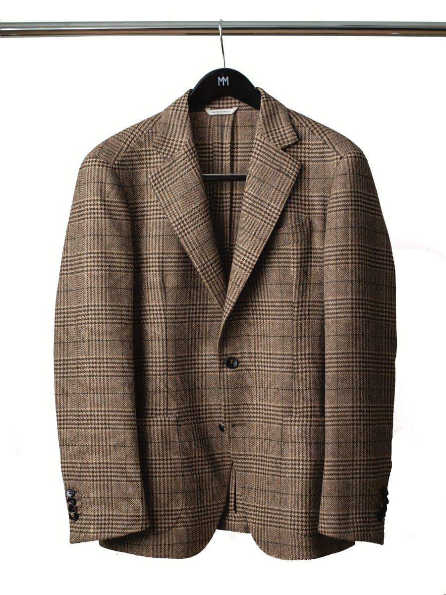 Gregori Camel Check Blazer by Moda Matters