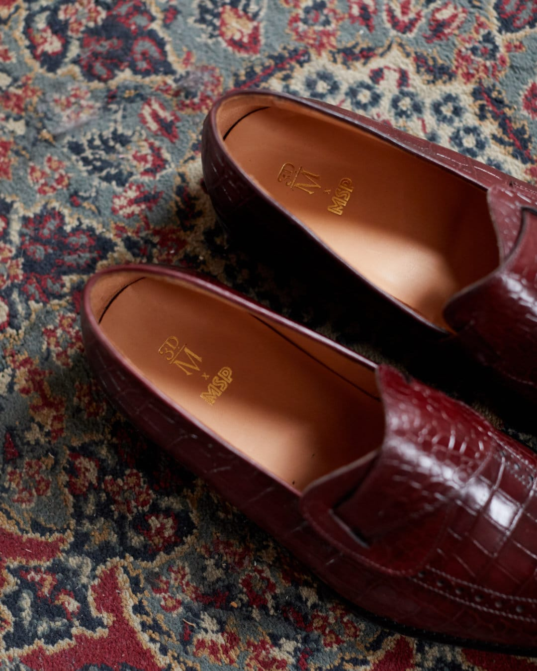 Alfie Croc Leather Butterfly Loafer $159