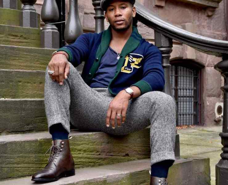 Sabir M. Peele of Men's Style Pro wearing Chunky Cardigan
