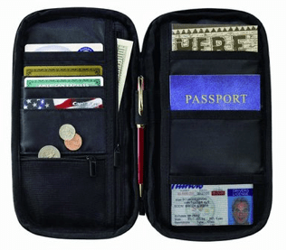 Lewis N. Clark Luggage Rfid Document Organizer, Black