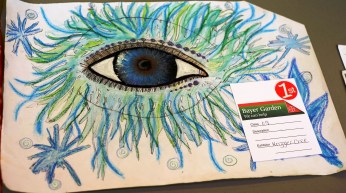Magnificent eye which gained a 1st place for Krizzler Cree in the 11-16 art class