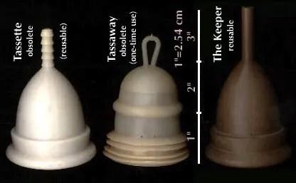First menstrual cups: Tassette, Tasseway, The Keeper