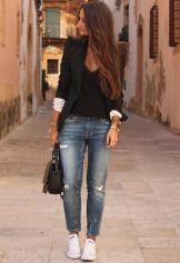 Black Blazer With Denim Jeans