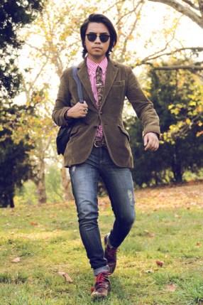 Corduroy Blazer with jeans