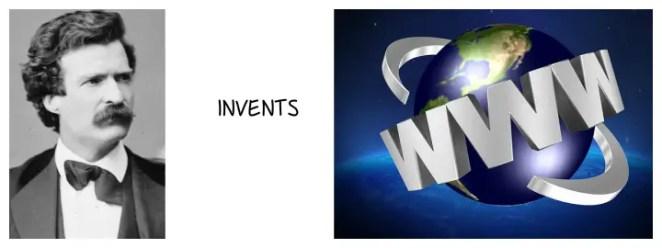 Mark twain internet inventor