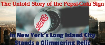 Pepsi cola sign in NYC
