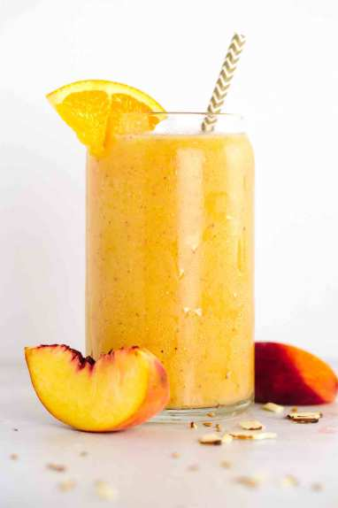 healthy smoothies orange and peach