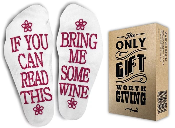 If You Can Read This Bring Me Some Wine Socks