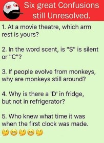Six Great Confusions