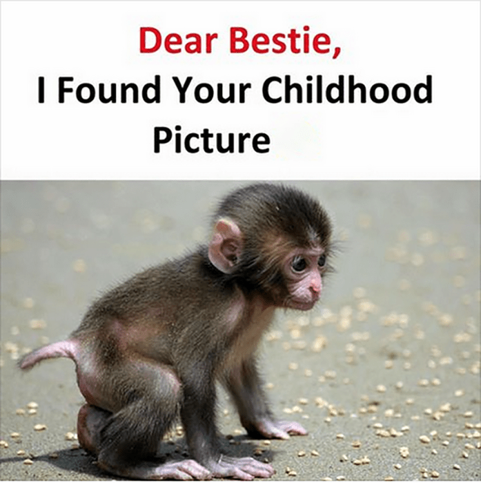 dear best friend i found your childhood picture
