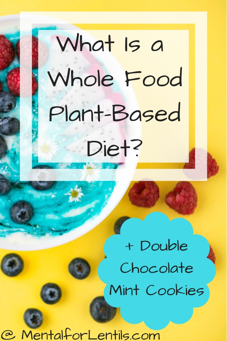 Smoothie bowl on yellow background with text overlay - What Is a Whole Food Plant-Based Diet?