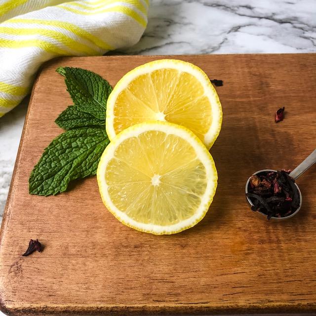 hibiscus tea lemonade prep