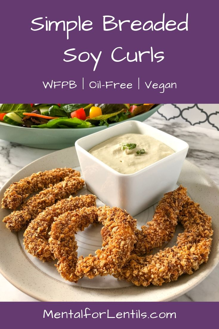 breaded soy curls pin image 1