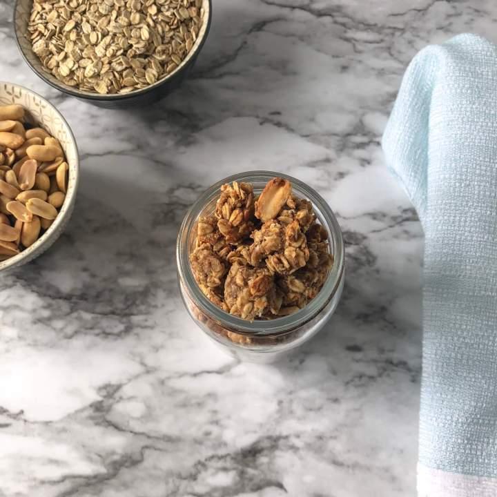 Oil-Free Peanut Butter Granola