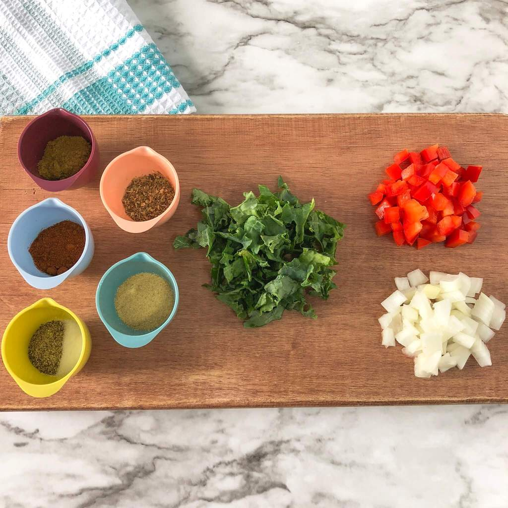 vegan quesadilla prep photo