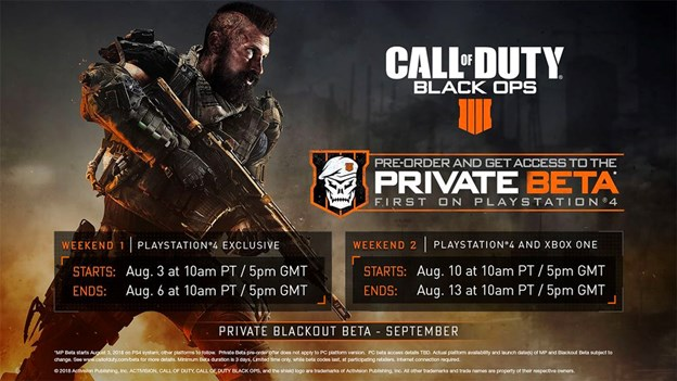 Black Ops 4 Console Beta