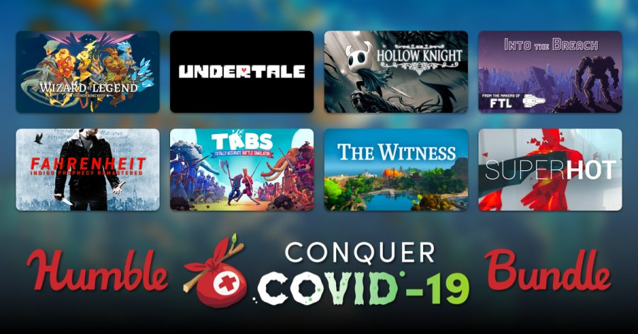 Conquer Covid-19 Humble Bundle Image