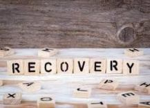 Colour image of scrabble saying recovery