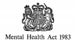 Black and white image of the Mental Health Act 1983 insignia