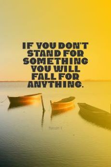 Quote - if you don't stand for something - standing up for mental Health and stamping out stigma