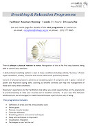 Breathing & Relaxation Programme