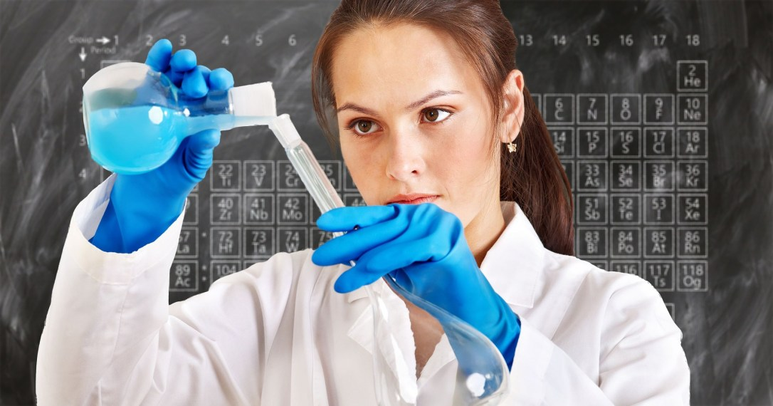 researcher in a chemistry lab
