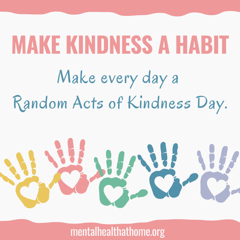 Random Acts of Kindness Day: Make Kindness a Habit - handprints with hearts in the centre