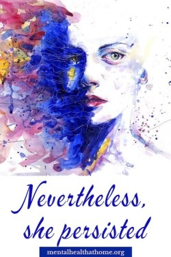 Nevertheless, she persisted – abstract design of colours
